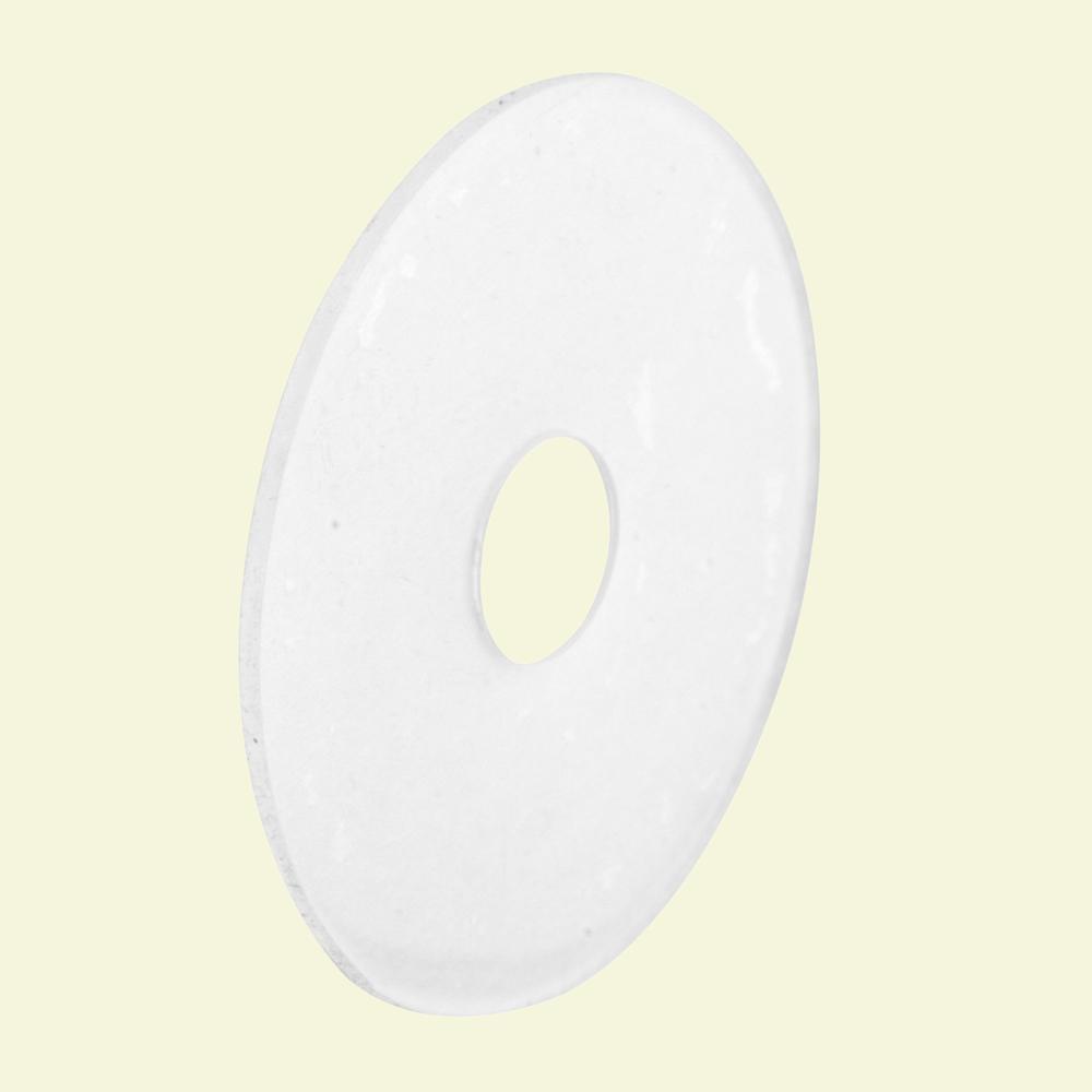 Prime-Line 1 in  Clear Plastic Self-Adhesive Shower Curtain Repair Tabs  (Pack of 12)