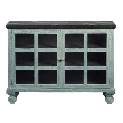 Elizabeth Spearmint Pine Display Cabinet