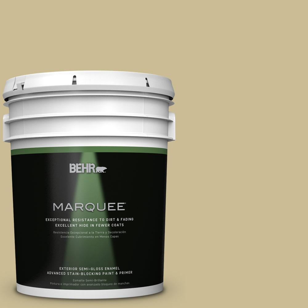 5-gal. #M330-4 Morning Tea Semi-Gloss Enamel Exterior Paint