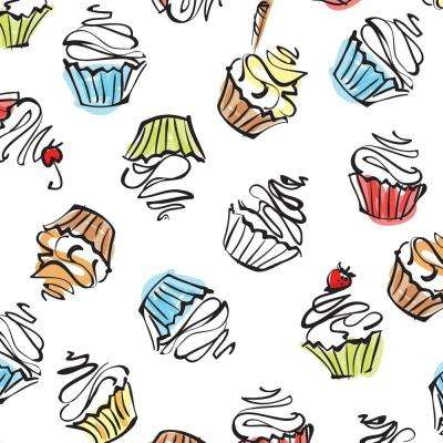 8 in. x 10 in. Laminate Sheet in Sweet Treats Large with Virtual Design Matte Finish