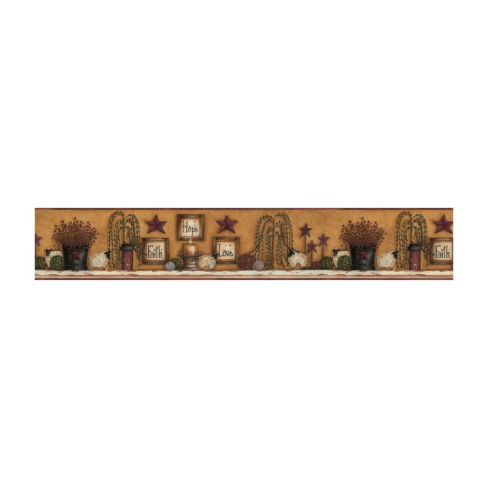 York Wallcoverings 6 in. H Faith Hope Love Shelf Border-DISCONTINUED