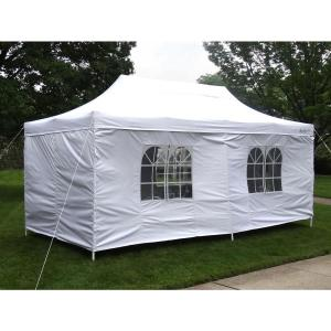 Click here to buy GigaTent Party Tent Deluxe 10 ft. x 20 ft. Accordion Steel Frame Canopy Window/Door Walls... by GigaTent.