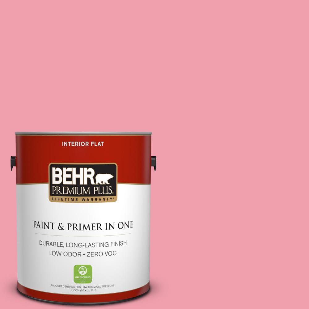 BEHR Premium Plus 1-gal. #120B-5 Candy Coated Zero VOC Flat Interior Paint