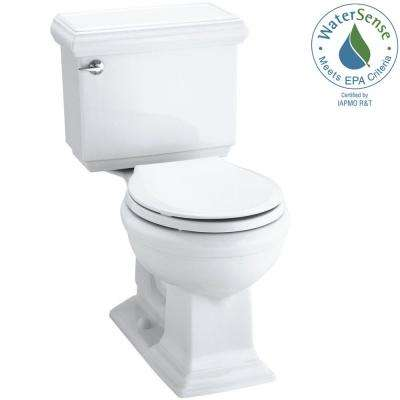 Memoirs Classic 2-piece 1.28 GPF Round Toilet with AquaPiston Flushing Technology in White