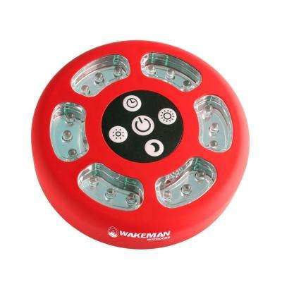 Round Red LED Camping Tent Light