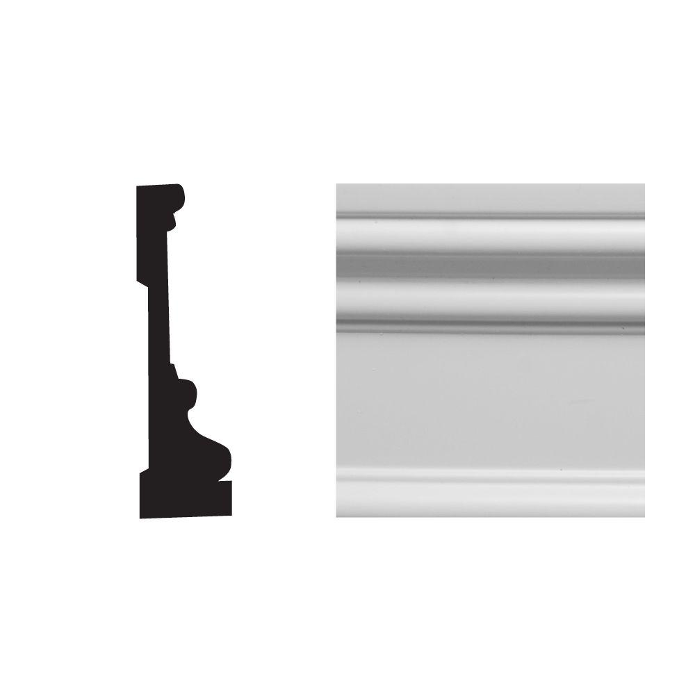 Royal Mouldings 6624 1 in. x 3-1/2 in. x 8 ft. PVC Composite White RB 3 Casing