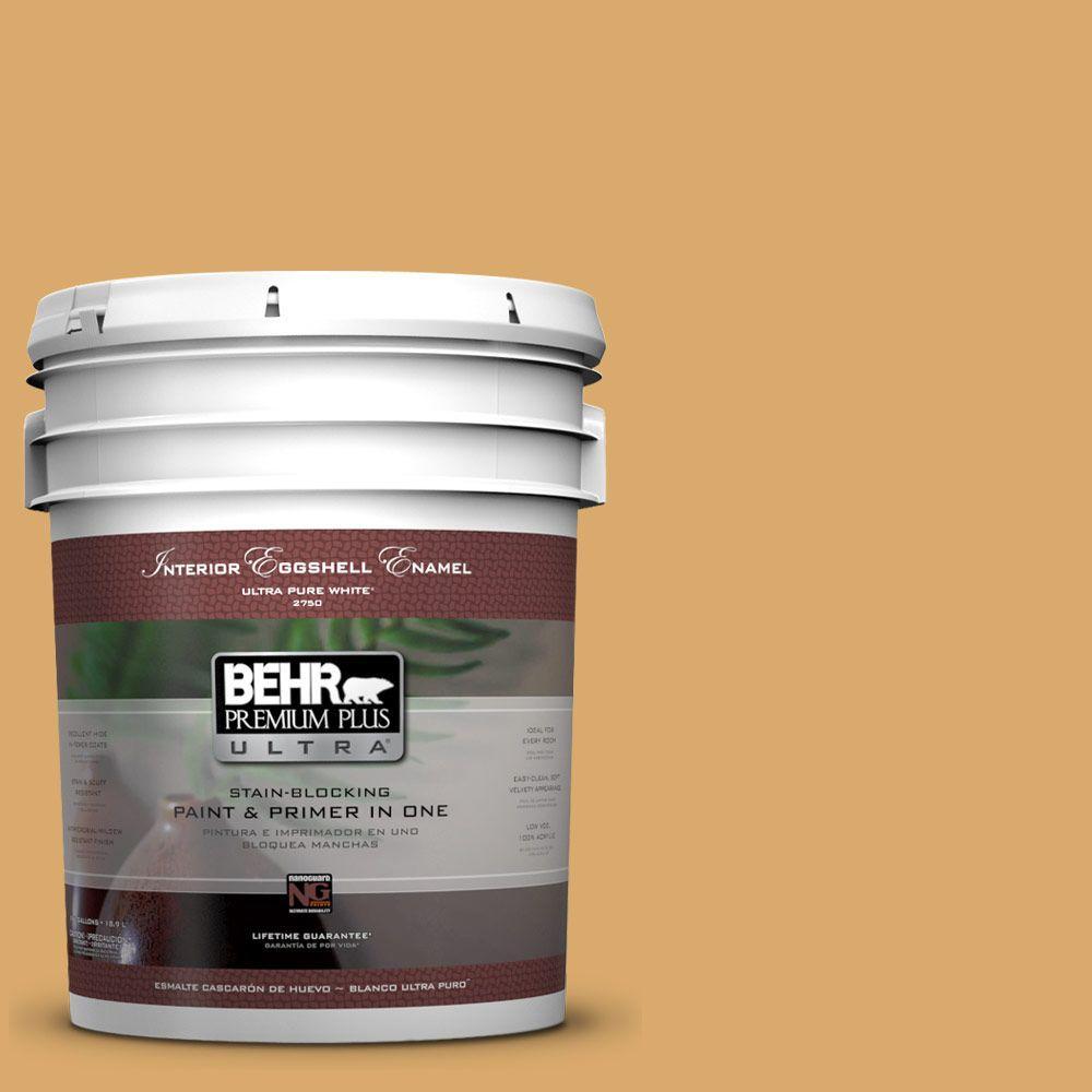 BEHR Premium Plus Ultra Home Decorators Collection 5-gal. #HDC-FL13-2 Corn Maze Eggshell Enamel Interior Paint