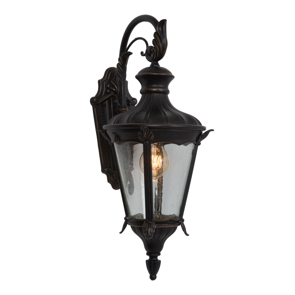 Leonardo Collection 1-Light Oil-Rubbed Bronze Outdoor Wall Mount Lamp