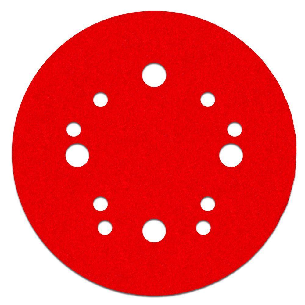 5 in. 80-Grit Universal Hole Random Orbital Sanding Disc with Hook
