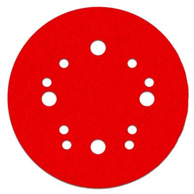 5 in. 120-Grit Universal Hole Random Orbital Sanding Disc with Hook and Lock Backing (4-Pack)