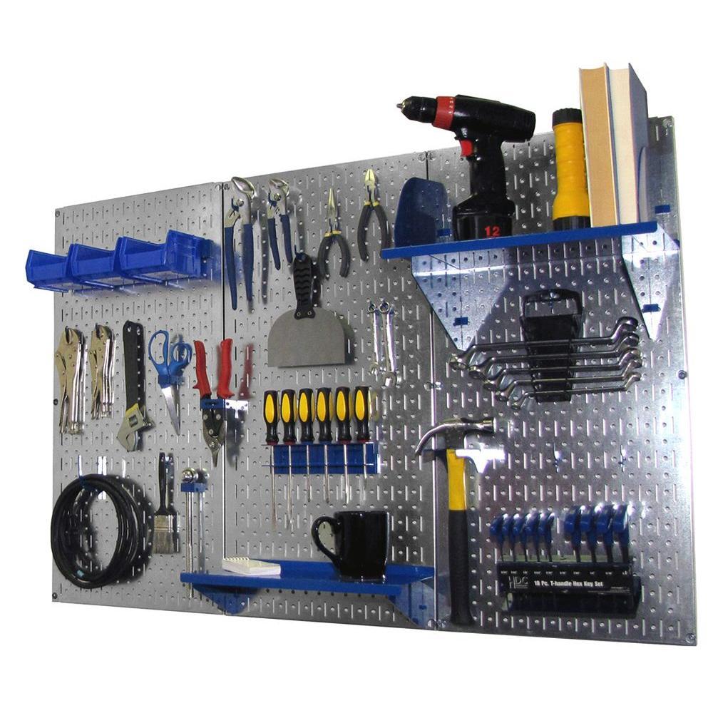 Metal Pegboard Standard Tool Storage Kit With
