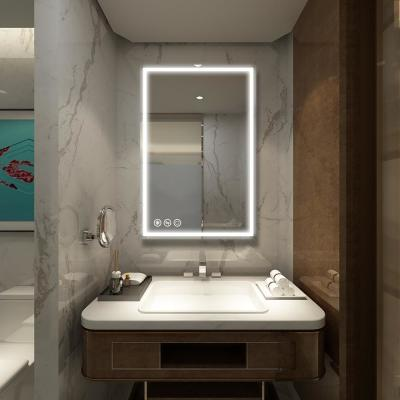24in x 36in Frameless Led Lighted Bathroom Wall Mounted Mirror