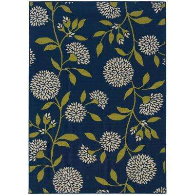 Aster Navy 7 ft. x 10 ft. Outdoor Area Rug