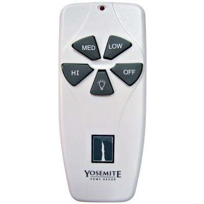 Universal Remote Control and Receiver for Lighted Ceiling Fan