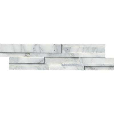 Calacatta Cressa 3D Ledger Panel 6 in. x 24 in. Honed Marble Wall Tile (10 cases / 60 sq. ft. / pallet)