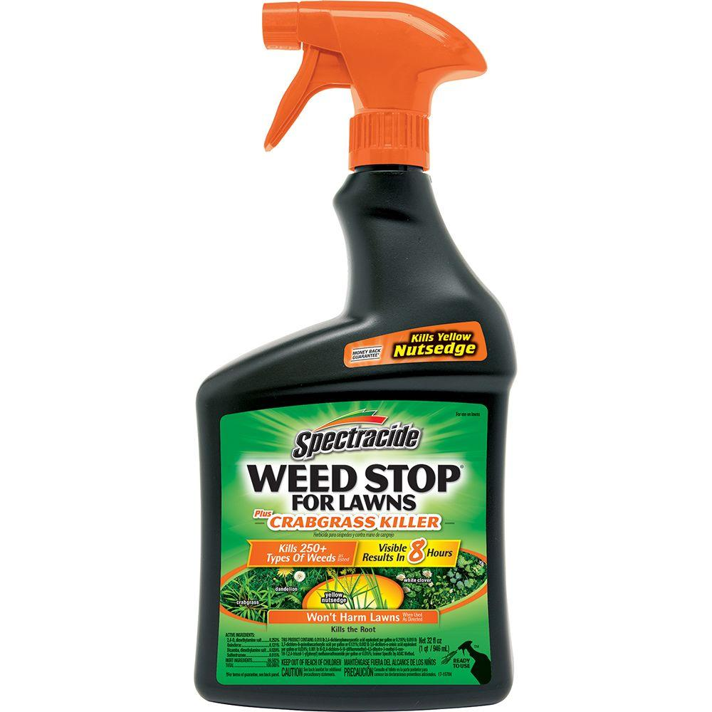 Spectracide Weed Stop 32 oz. Ready-to-Use Plus Crabgrass Killer Sprayer