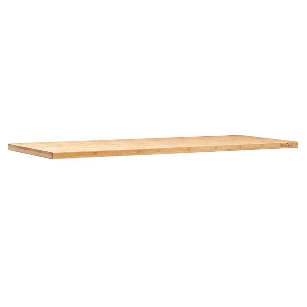 NewAge Products Bold Series 3.0 72 in. W x 1 in. H x 18 in. D Bamboo Worktop
