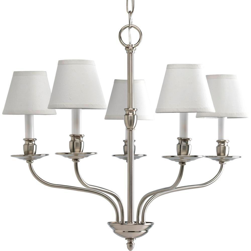 Progress Lighting Richmond Hill Collection 5-Light Brushed Nickel Chandelier-DISCONTINUED