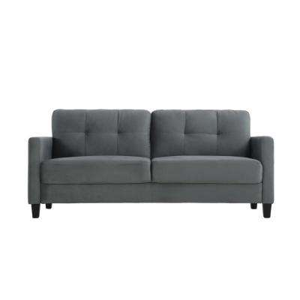 Torren Microfiber Sofa Dark Grey