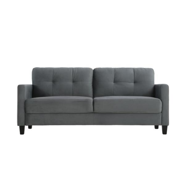 Lifestyle Solutions Harvard Microfiber Sofa with Rolled Arms in ...