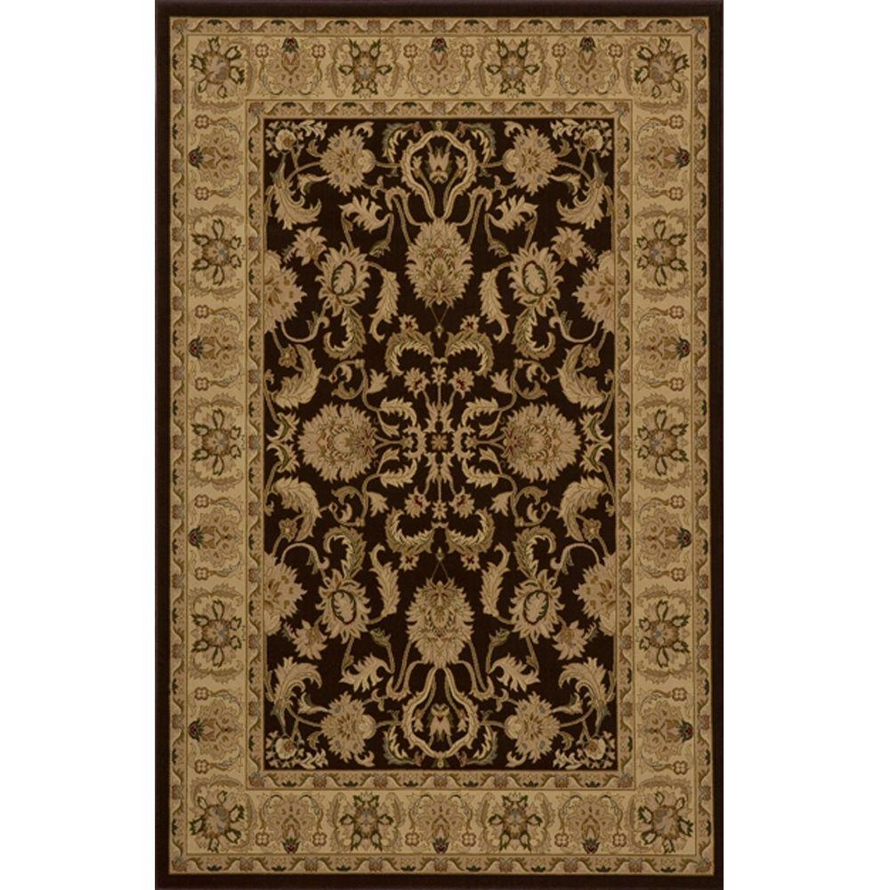 Lovely Brown 3 ft. 3 in. x 5 ft. Area Rug