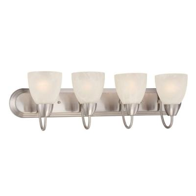 Torino 4-Light Brushed Nickel Bath Bar Light