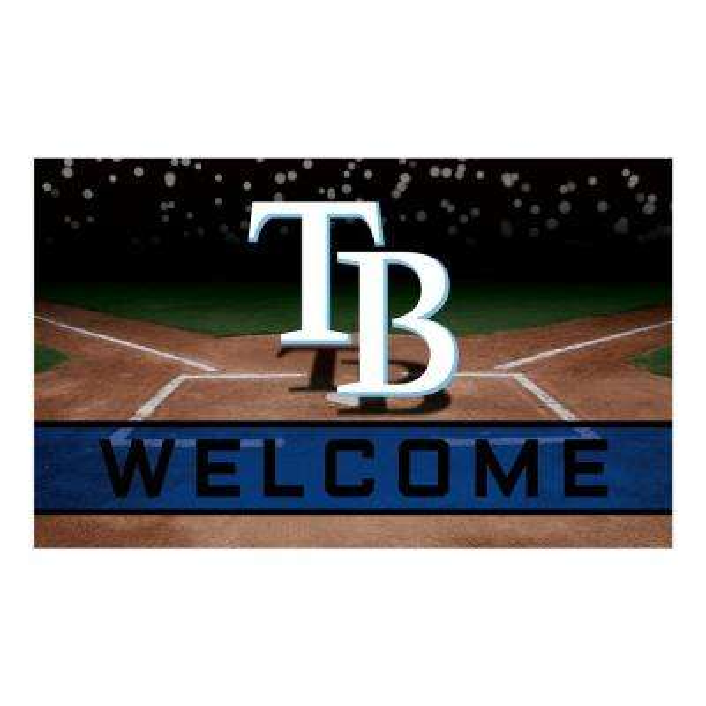 MLB - Tampa Bay Rays 18 in. x 30 in. Rubber Door Mat