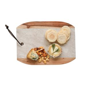 3R Studios 12 inch L Marble and Mango Wood Cutting Board by 3R Studios