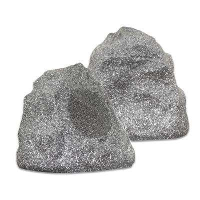 Outdoor Granite Rock 2-Speaker Set for Deck Patio Garden