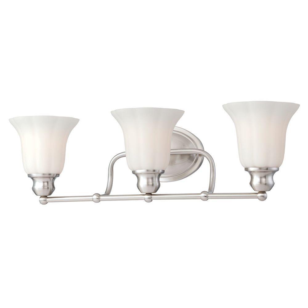 Fountaine Collection 3-Light Satin Nickel Bath Bar Light