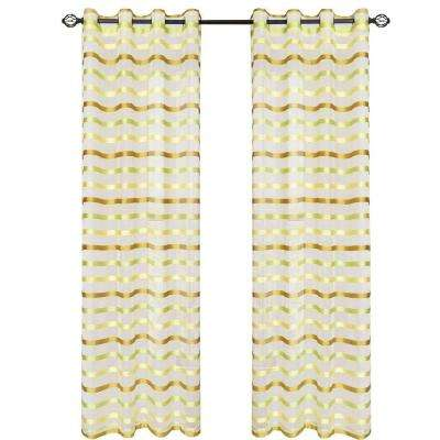 Green Sonya Grommet Curtain Panel, 108 in. Length