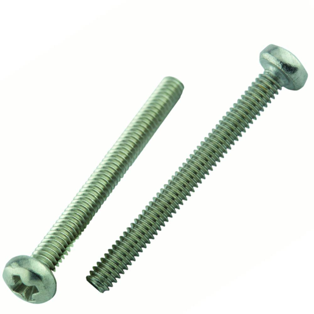 M8-1.25 X 20 Phillips Pan Machine Screw A2 Stainless Steel Package Qty 100