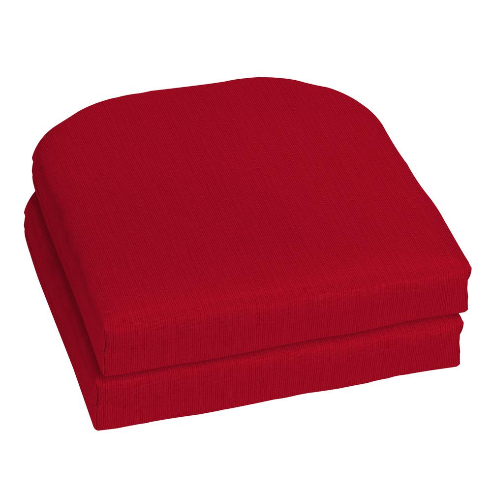 Home Decorators Collection 18 x 18 Sunbrella Spectrum Cherry Outdoor Chair Cushion (2-Pack)