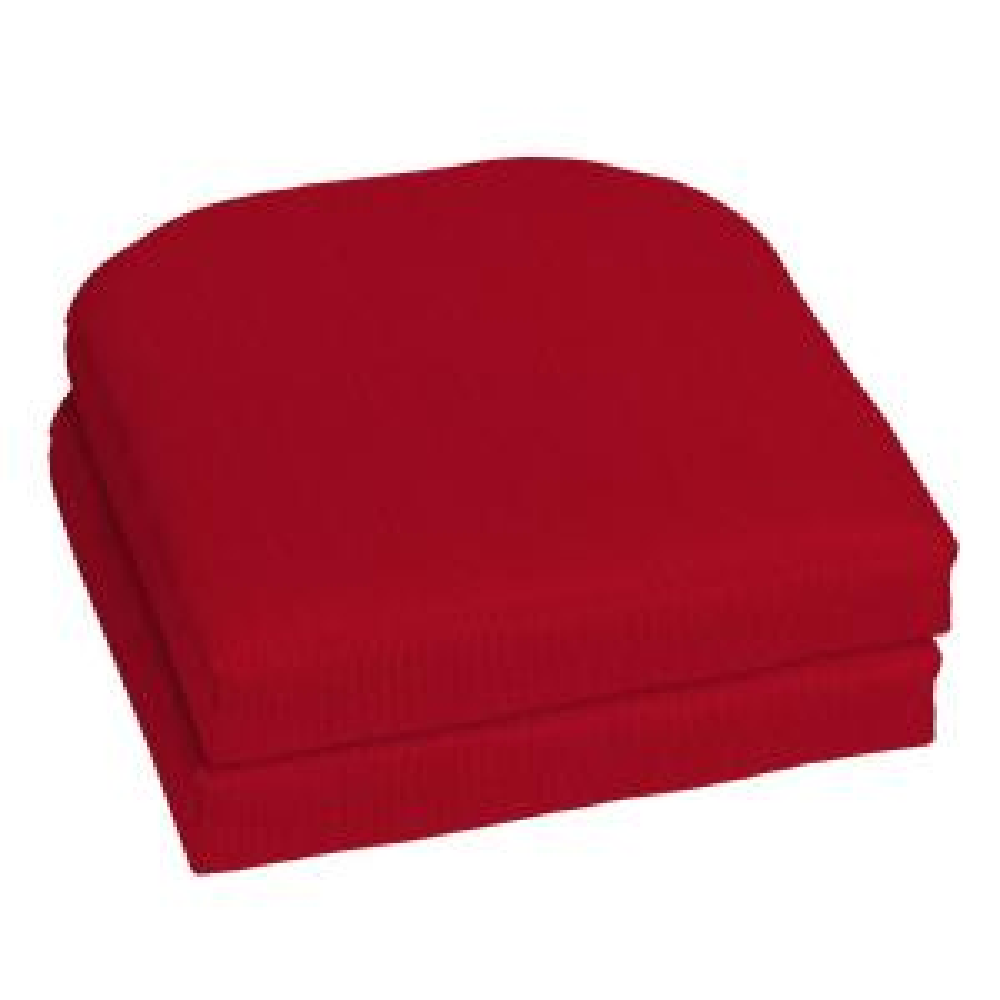 18 x 18 Sunbrella Spectrum Cherry Outdoor Chair Cushion (2-Pack)