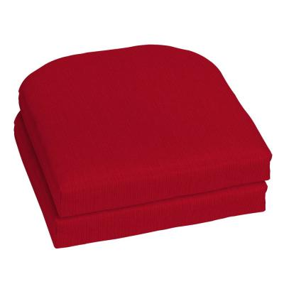 18 x 18 Sunbrella Spectrum Cherry Outdoor Chair Cushion (2-Pack)