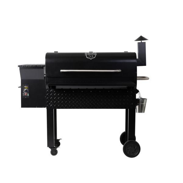 Prime Pellet Grills Kc King 950 Pellet Grill In Black 81220 The Home Depot