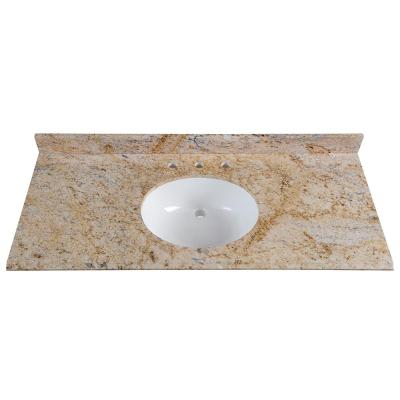 49 in. W x 22 in. D Stone Effects Vanity Top in Tuscan Sun with White Sink
