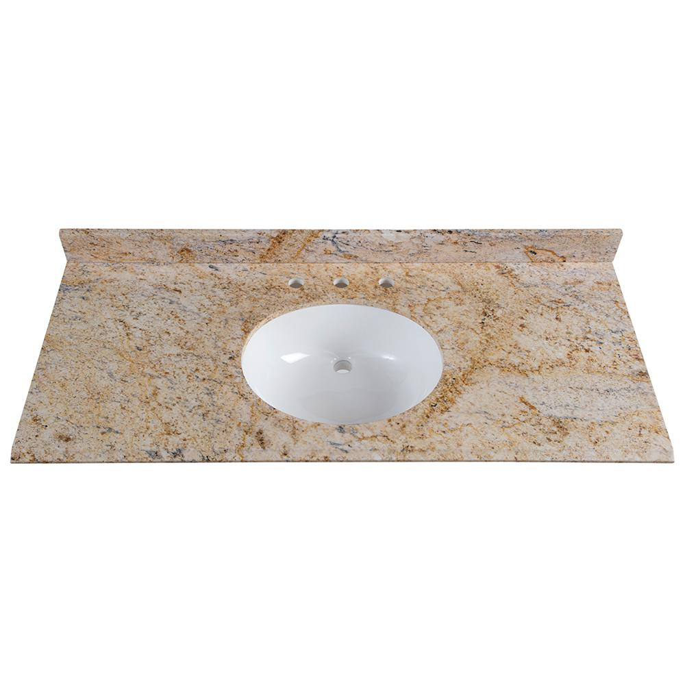St Paul 49 In W X 22 D Stone Effects Vanity Top