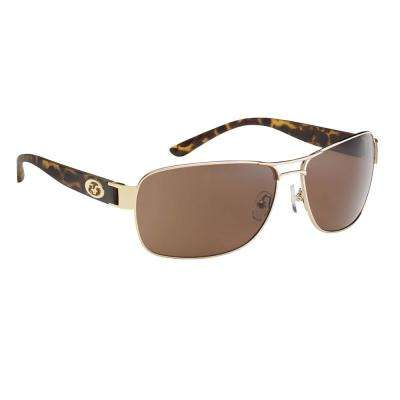 Carysfort Polarized Sunglasses Gold Tortoise Frame with Amber Lens