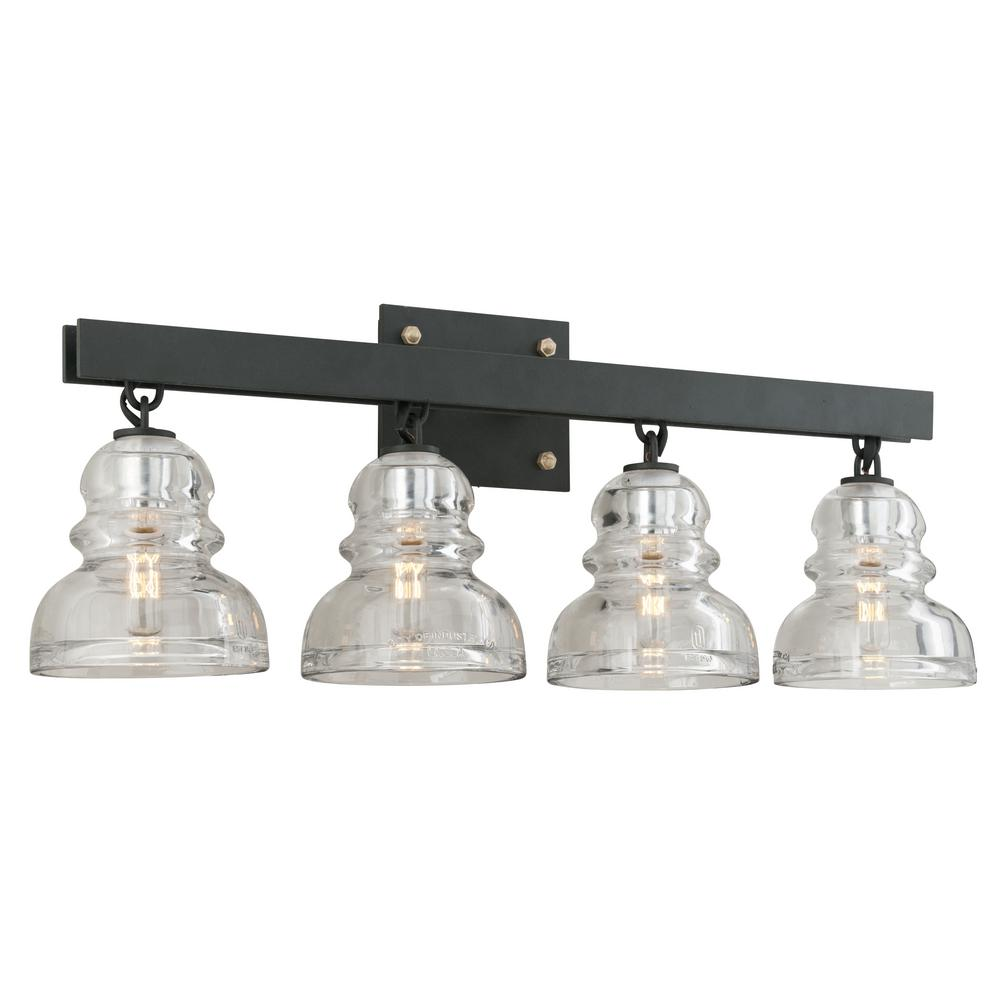 Troy Lighting Menlo Park 4-Light Deep Bronze Vanity Light  sc 1 st  Home Depot & Troy Lighting Menlo Park 4-Light Deep Bronze Vanity Light-B3964 ...