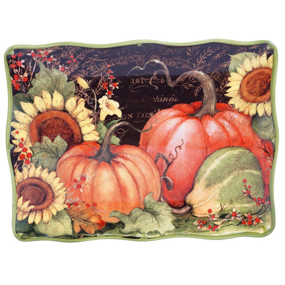 Botanical Harvest Rectangular Platter