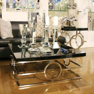 Stainless Steel Coffee Table by