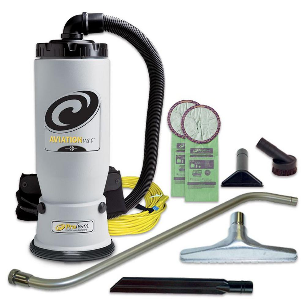 AviationVac 6 qt. Backpack Vac with Xover Multi-Surface Telescoping Wand Tool