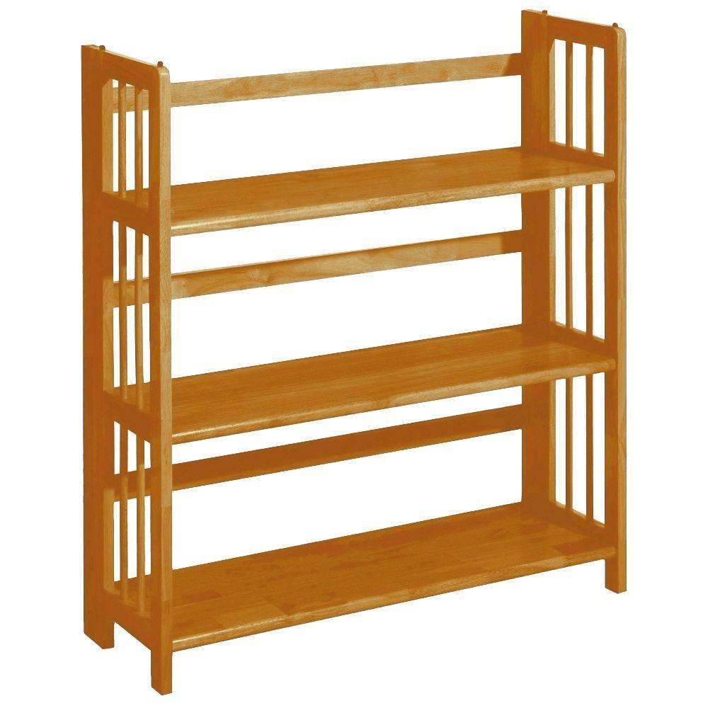 Casual Home Honey Oak Folding/Stacking Open Bookcase