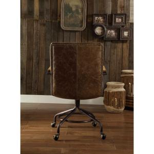 Delightful +3. Acme Furniture Hedia Vintage Whiskey Top Grain Leather Office Chair
