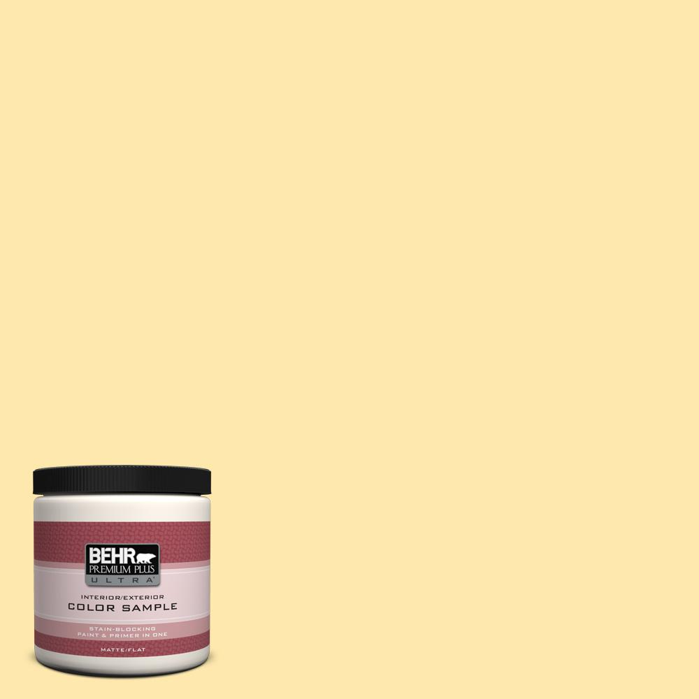 8 oz. #P290-2 Sweet As Honey Flat Interior/Exterior Paint and Primer