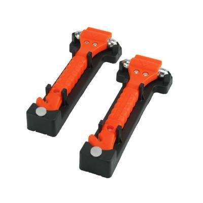 Universal Emergency Hammer Window Punch and Seat Belt Cutter (2-Pack)