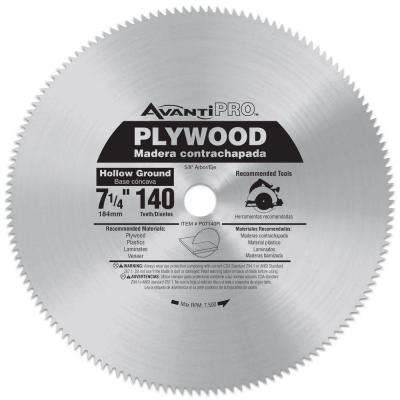 7-1/4 in. x 140-Teeth Plywood Saw Blade