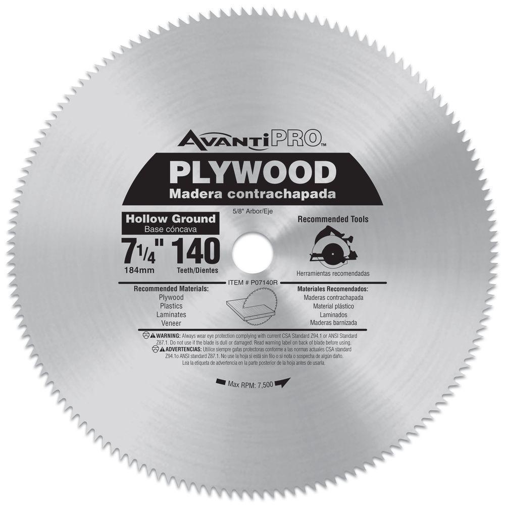 7-1/4 in. x 140-Teeth Plywood Saw Blade