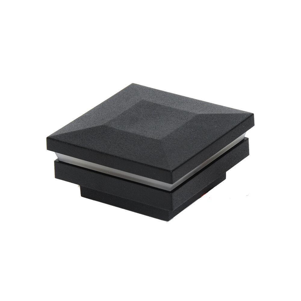 Penrose/VersaRail 2.5 in. Matte Black Aluminum Rail Contemporary LED Post Top